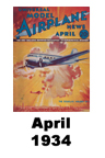 Model Airplane news cover for April of 1934