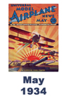 Model Airplane news cover for May of 1934