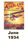 Model Airplane news cover for June of 1934