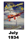 Model Airplane news cover for July of 1934