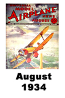 Model Airplane news cover for August of 1934