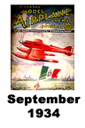 Model Airplane news cover for September of 1934