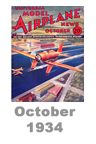 Model Airplane news cover for October of 1934