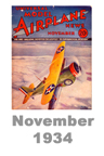Model Airplane news cover for November of 1934