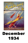 Model Airplane news cover for December of 1934