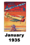 Model Airplane news cover for January of 1935