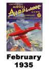 Model Airplane news cover for February of 1935