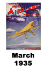 Model Airplane news cover for March of 1935