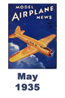 Model Airplane news cover for April of 1935