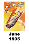 Model Airplane news cover for June of 1935