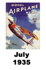 Model Airplane news cover for July of 1935