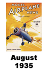 Model Airplane news cover for August of 1935