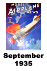 Model Airplane news cover for September of 1935