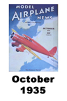 Model Airplane news cover for October of 1935