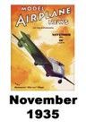 Model Airplane news cover for November of 1935