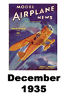 Model Airplane news cover for December of 1935
