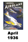 Model Airplane news cover for April of 1936