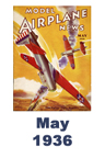 Model Airplane news cover for May of 1936