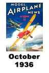 Model Airplane news cover for October of 1936