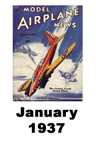Model Airplane news cover for January of 1937