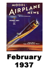 Model Airplane news cover for February of 1937