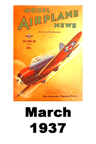 Model Airplane news cover for March of 1937