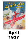 Model Airplane news cover for April of 1937