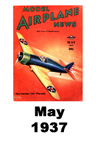Model Airplane news cover for May of 1937