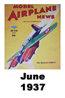 Model Airplane news cover for June of 1937