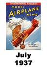 Model Airplane news cover for July of 1937