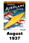 Model Airplane news cover for August of 1937