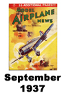 Model Airplane news cover for September of 1937