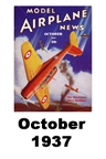 Model Airplane news cover for October of 1937