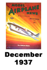 Model Airplane news cover for December of 1937