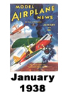 Model Airplane news cover for January of 1938