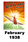 Model Airplane news cover for February of 1938