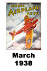 Model Airplane news cover for March of 1938