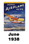 Model Airplane news cover for June of 1938