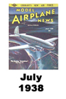 Model Airplane news cover for July of 1938