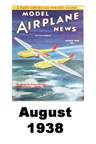Model Airplane news cover for August of 1938
