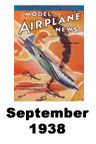 Model Airplane news cover for September of 1938