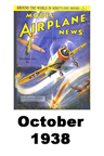Model Airplane news cover for October of 1938