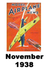 Model Airplane news cover for November of 1938