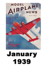 Model Airplane news cover for January of 1939