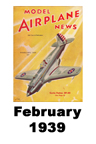 Model Airplane news cover for February of 1939