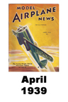 Model Airplane news cover for April of 1939