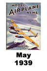 Model Airplane news cover for May of 1939