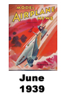 Model Airplane news cover for June of 1939