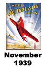 Model Airplane news cover for November of 1939