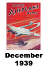 Model Airplane news cover for December of 1939